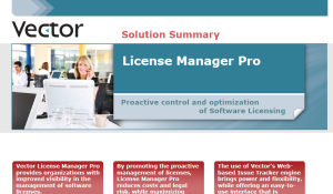 Vector License Manager Pro Brochure