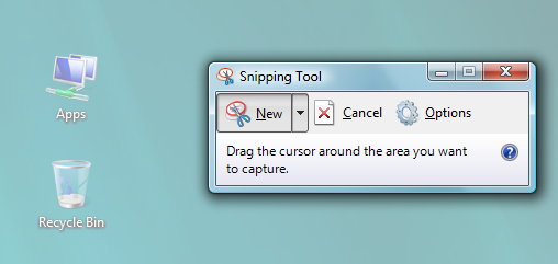 Snipping Tool - Interface