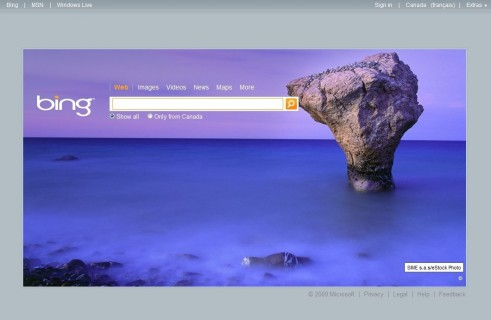 Bing background for July 5th, 2009.