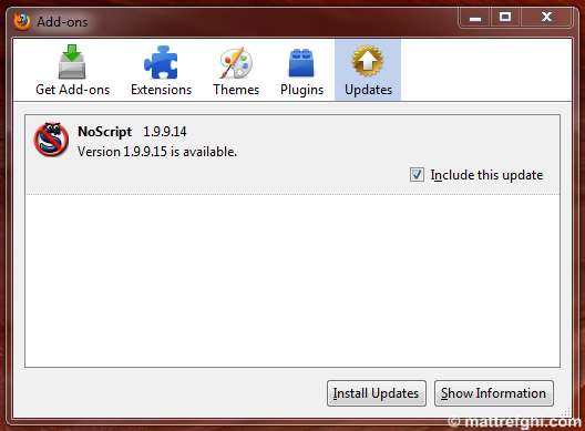 NoScript is updated often - each time you choose to install an update, you have to restart Firefox.