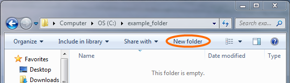 New Folder button - as seen in Windows Explorer