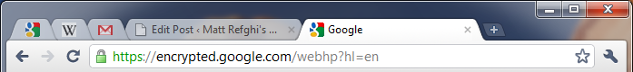 """On the left of this image, tabs which have been """"pinned"""" are visible."""