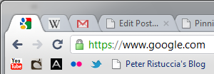 Google Chrome allows bookmarks to exist without a name. If a bookmark has no name, only the favicon will be displayed.