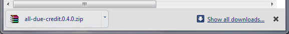 Google Chrome makes a bar appear at the bottom of a tab, whenever a file has been downloaded.