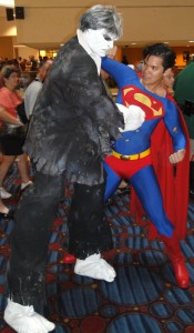Solomon Grundy fights Superman.