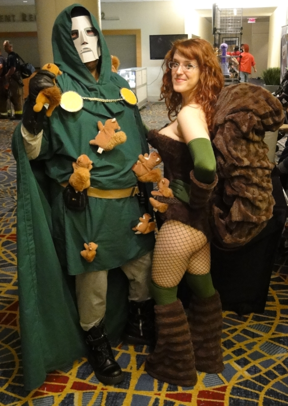 Squirrel Girl stands with Dr. Doom