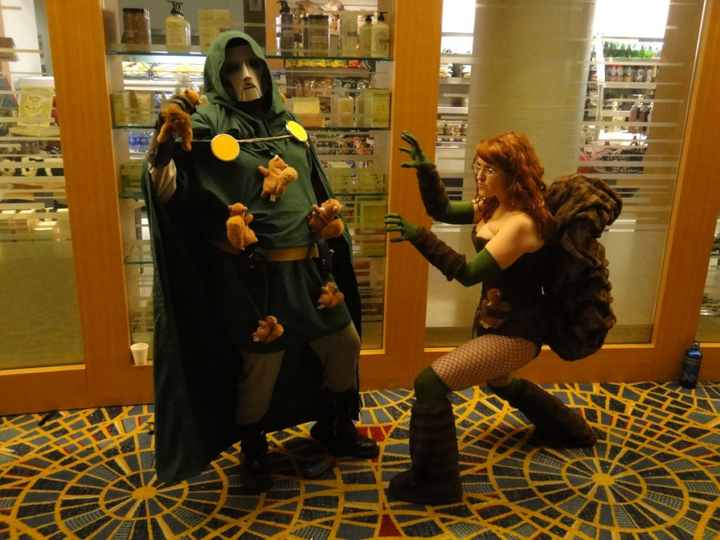 Squirrel Girl faces off with Doctor Doom, who is covered in squirrels.