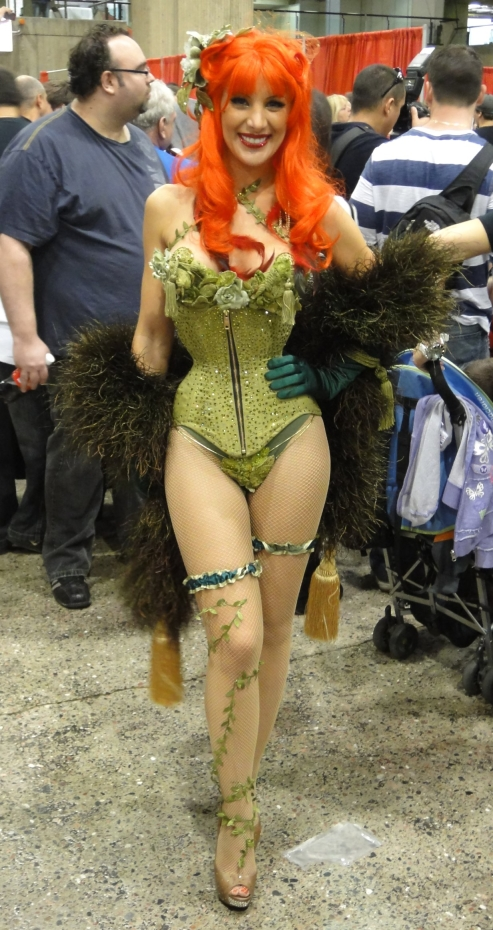 Poison Ivy showing the power of the corset. Oh, and the plants too.