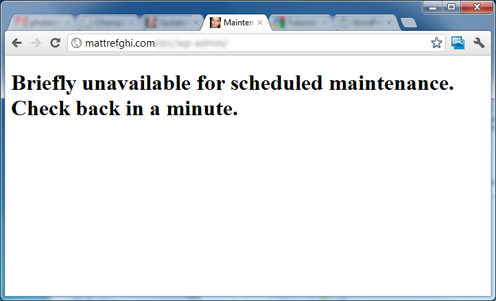 Briefly unavailable for schedule maintenance. Check back in a minute.
