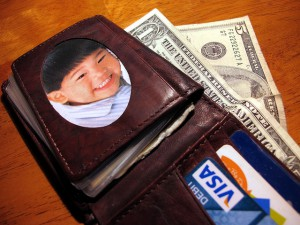 Note: this is not my actual wallet. Photo by frankieleon.