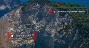"""Image shows two links (ads) on the Windows lock screen. One says """"Bring on the color"""" and the other says """"Rearrange to your heart's content."""""""